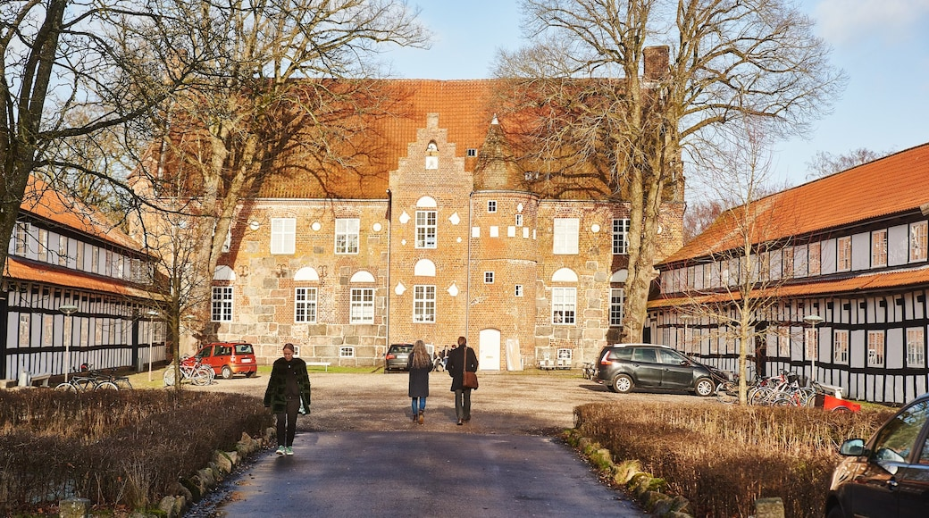 Skive mit einem Platz oder Plaza und historische Architektur