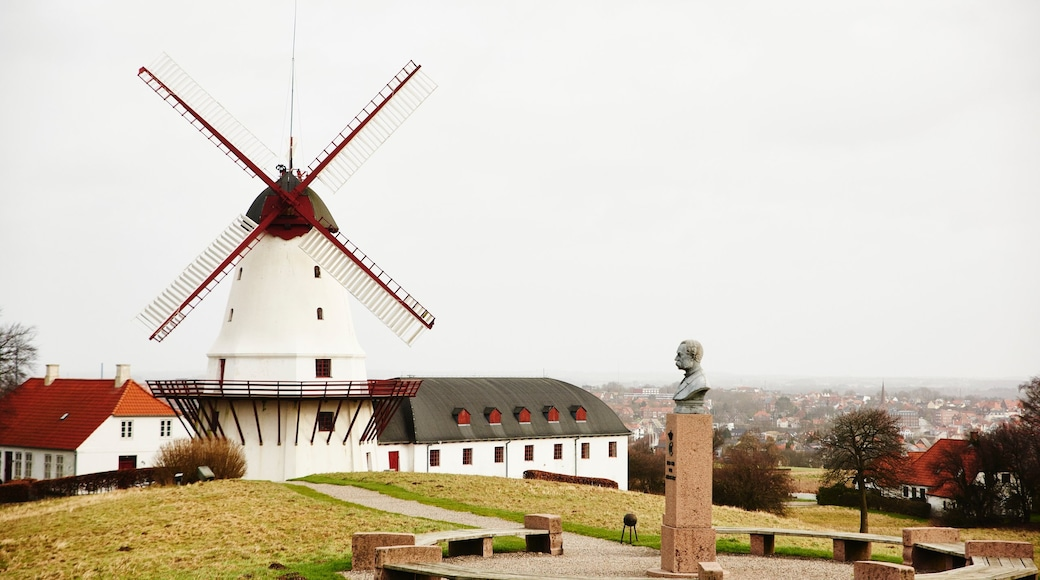 Nordborg featuring a windmill, a statue or sculpture and a garden