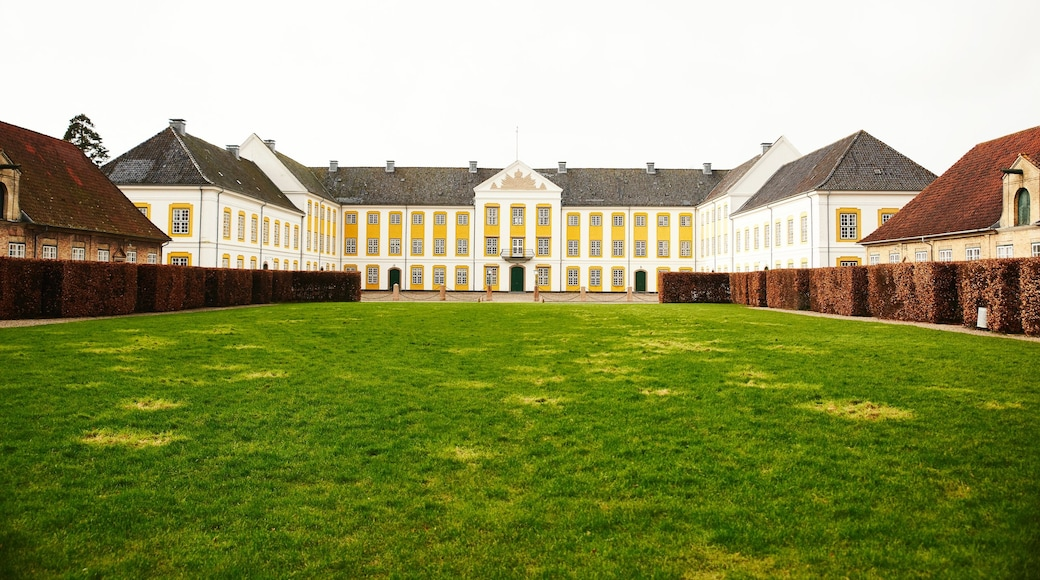 Nordborg which includes a castle and a garden