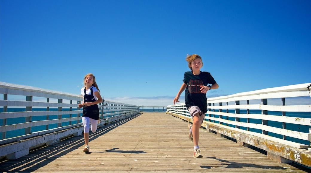 San Simeon Pier as well as children