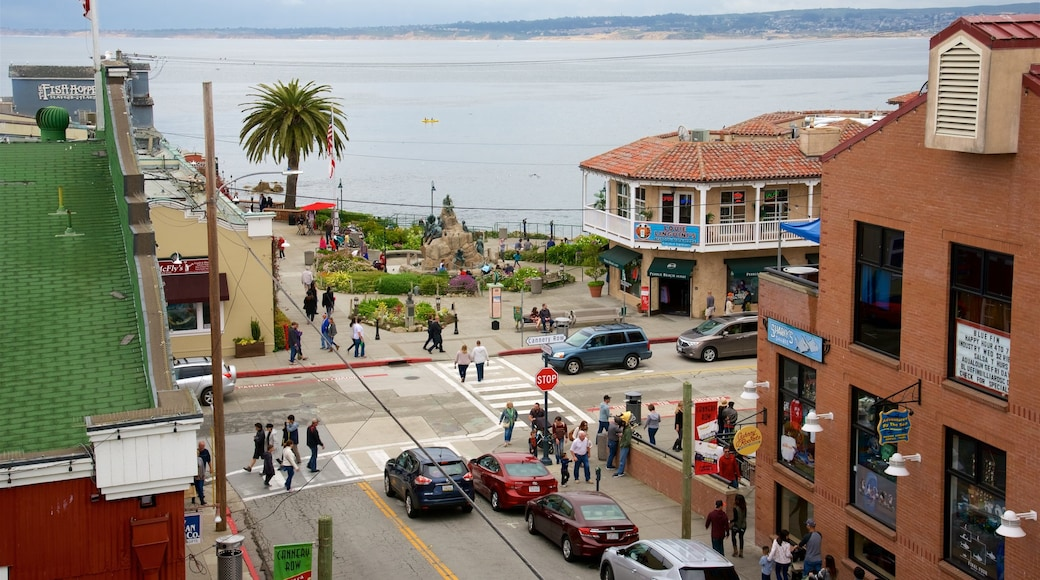 Cannery Row showing a coastal town