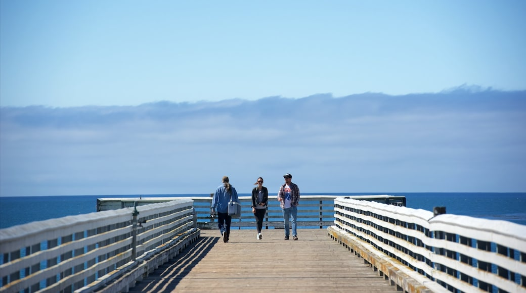San Simeon Pier as well as a small group of people