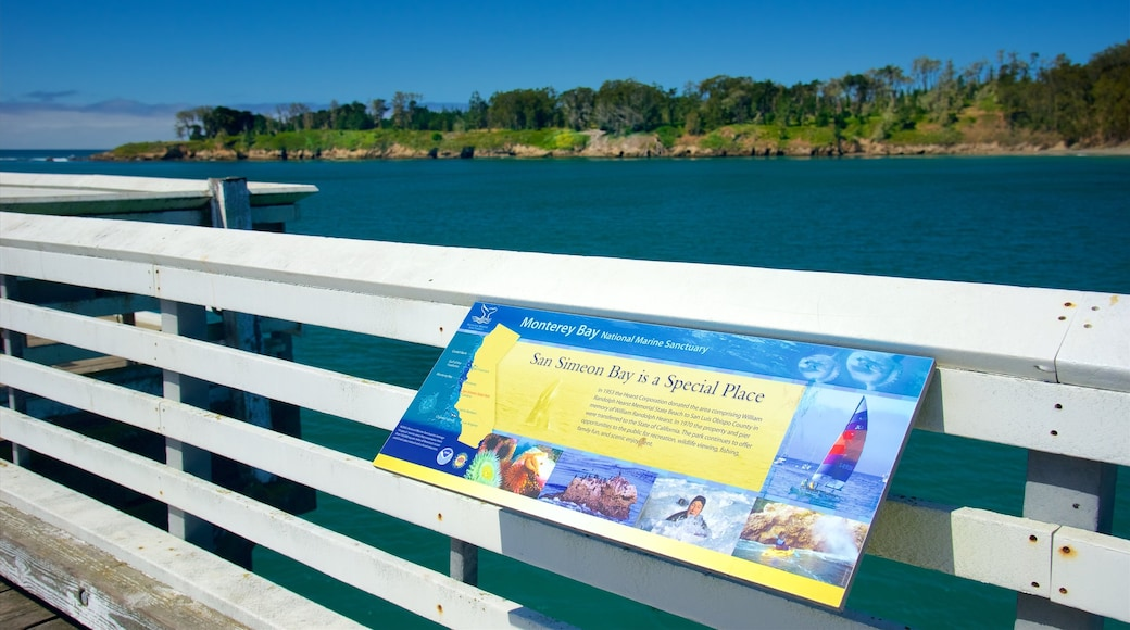 San Simeon Pier which includes views and general coastal views