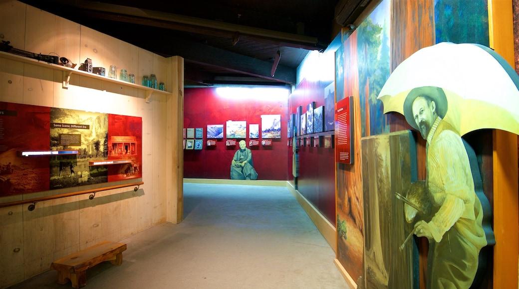 Yosemite Visitor Center showing interior views
