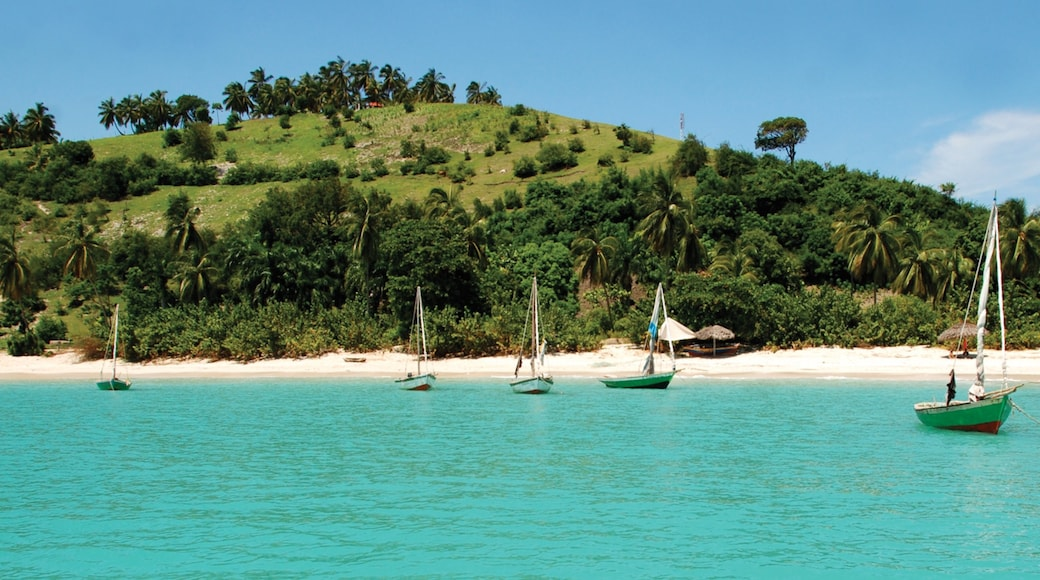 Haiti showing boating, a bay or harbor and a beach