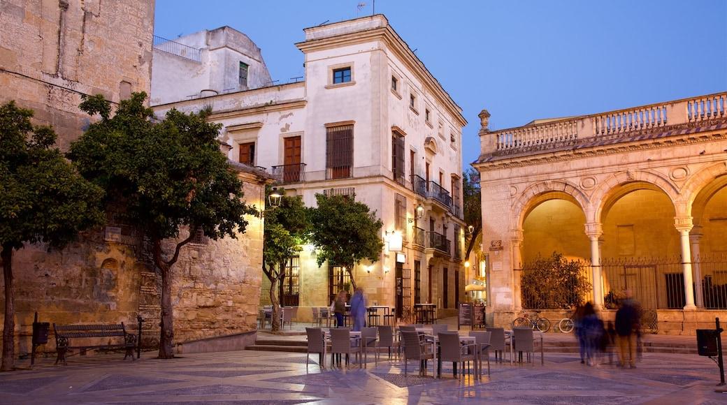 Jerez de la Frontera montrant petite ville ou village et square ou place