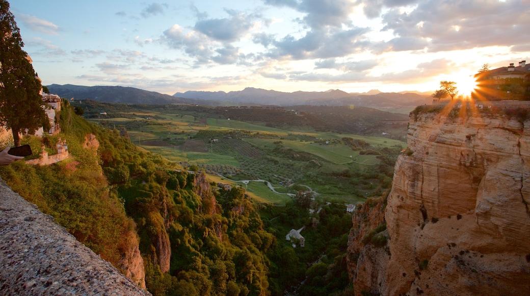 El Tajo Gorge caracterizando um desfiladeiro ou canyon e cenas tranquilas