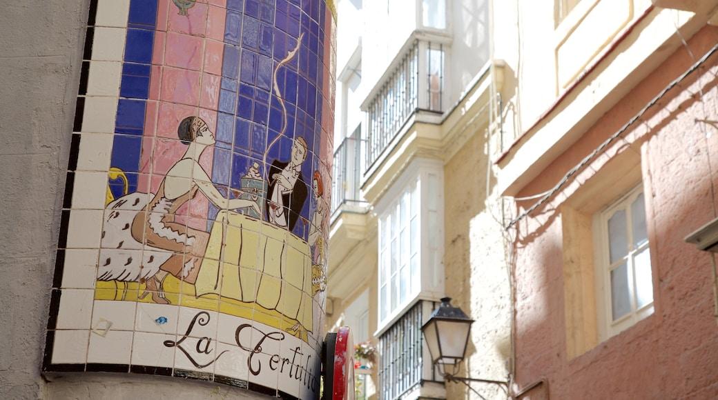 Cádiz que incluye arte al aire libre