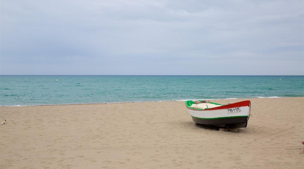 La Carihuela mostrando paseos en lancha y una playa de arena
