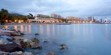 Marbella showing general coastal views, a coastal town and rocky coastline