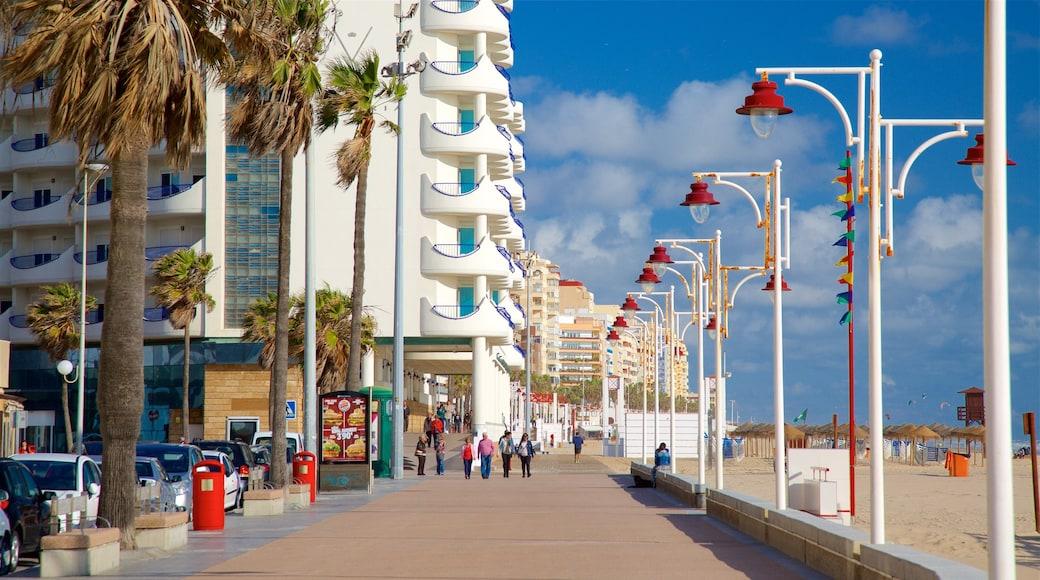 Victoria Strand das einen Straßenszenen