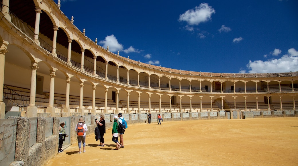 Plaza de Toros as well as a small group of people