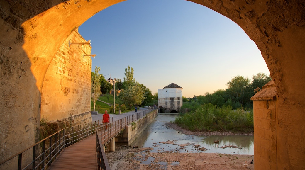 Puente romano ofreciendo un río o arroyo