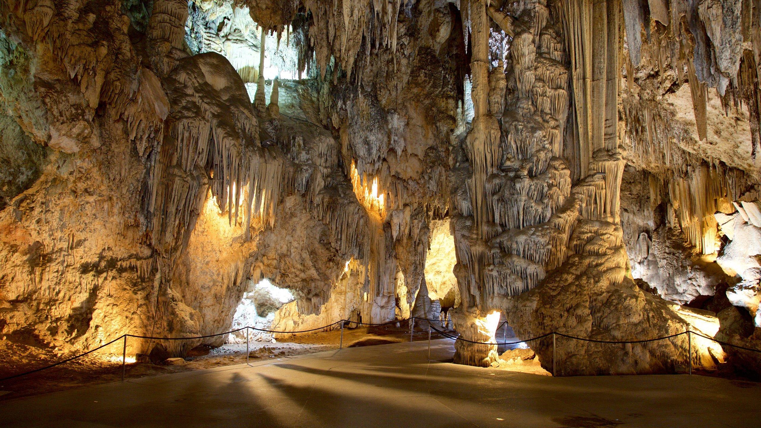 Admirez les immenses stalactites et stalagmites, de l'art pariétal ou assistez à un concert donné dans ce réseau de grottes datant du Trias.