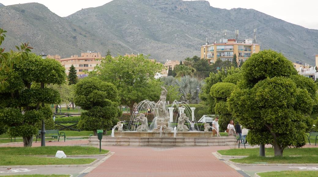 La Bateria bevat een tuin en een fontein