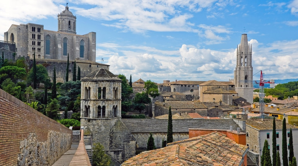 Girona showing landscape views and a small town or village