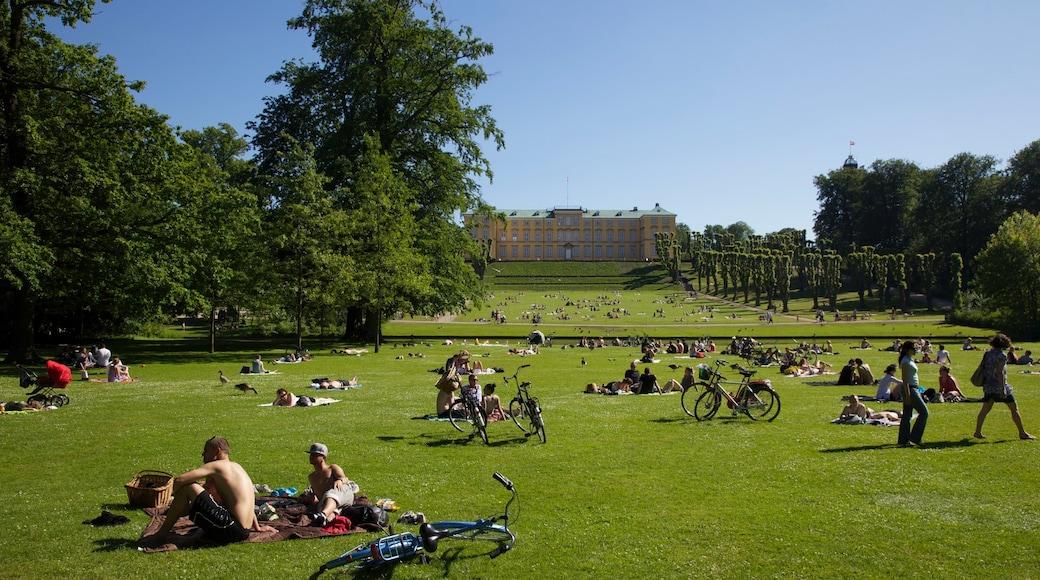 Frederiksberg montrant jardin aussi bien que important groupe de personnes