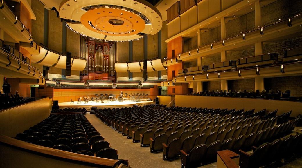 Winspear Centre which includes theatre scenes and interior views