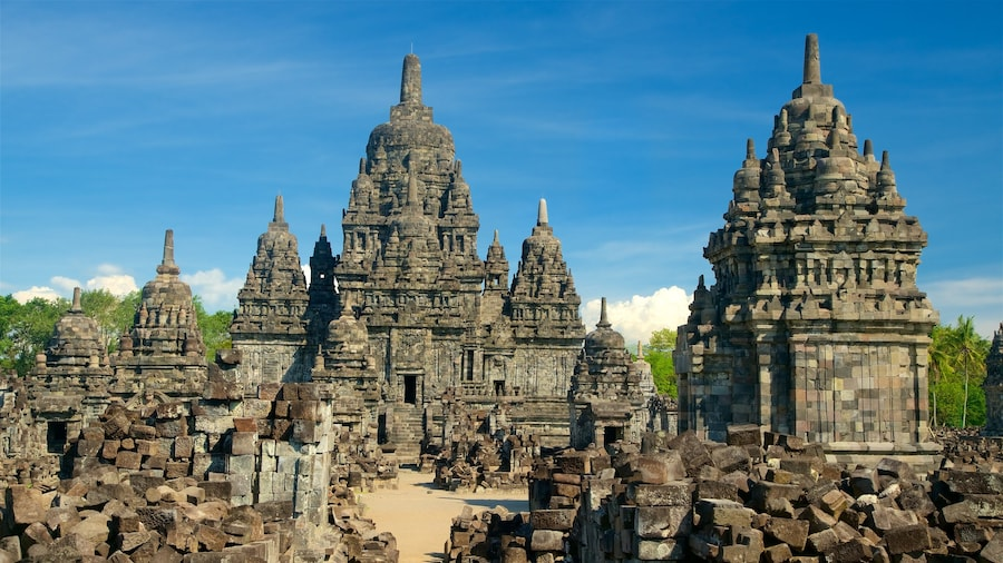 Prambanan featuring a ruin and heritage architecture