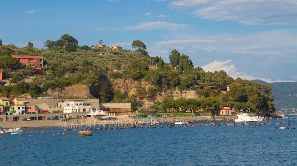Porto Venere che include vista della costa, baia e porto e località costiera