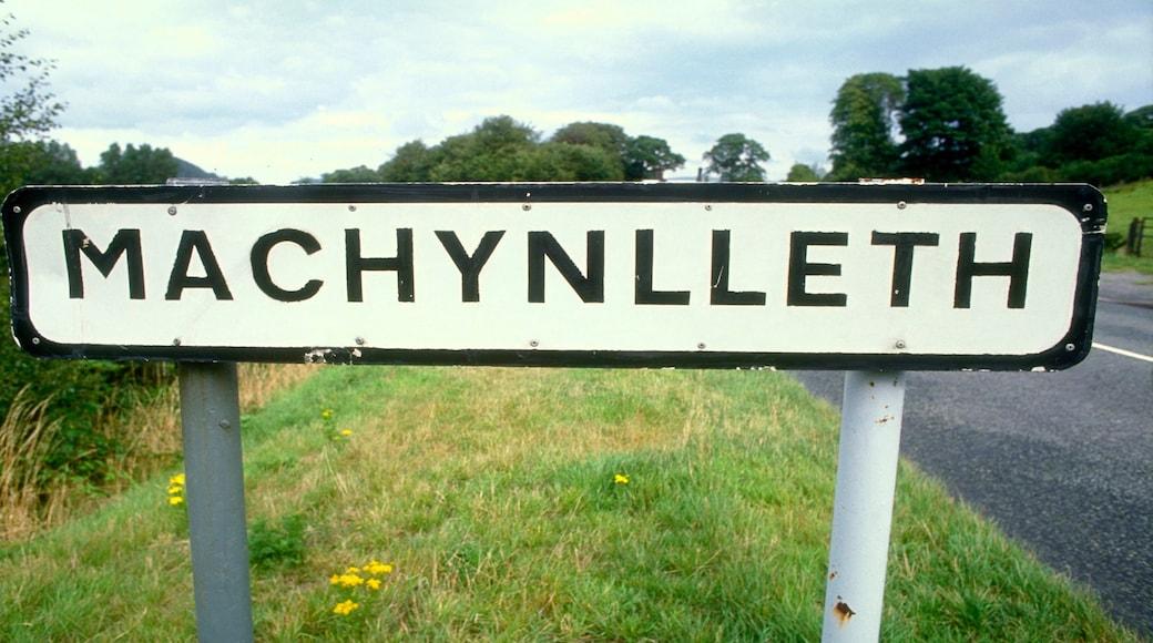 Machynlleth showing signage