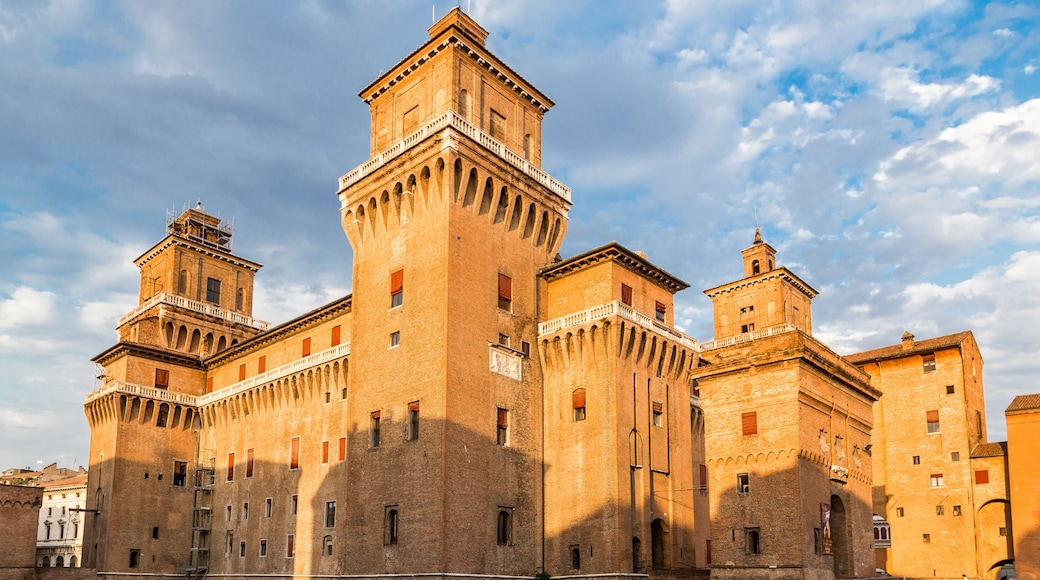 Ferrara which includes a castle and heritage architecture