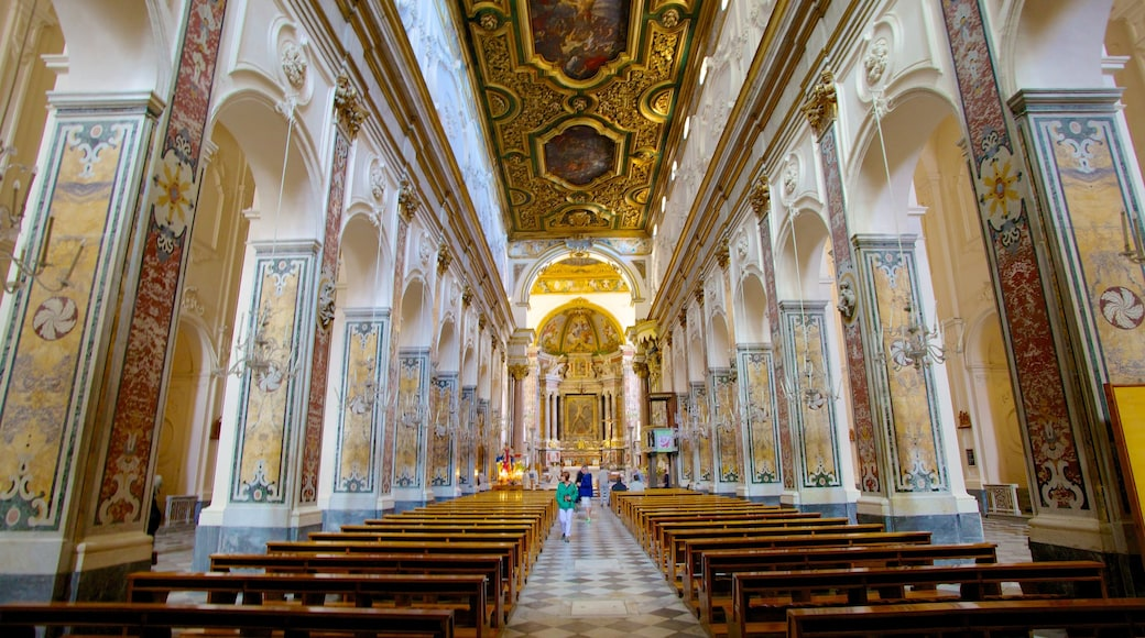 Amalfi Coast featuring religious aspects, art and heritage architecture