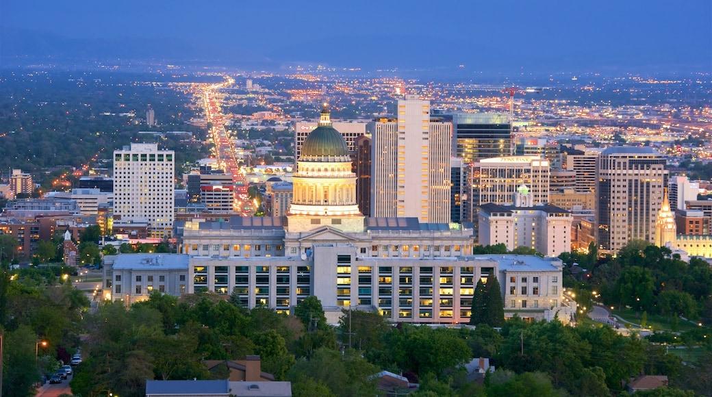 Pohjois-Utah - Salt Lake City johon kuuluu kaupunki ja yökuvat