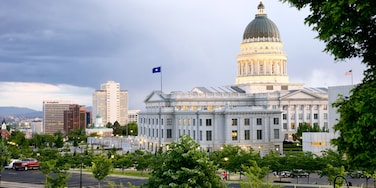Utah State Capitol which includes heritage architecture and an administrative building