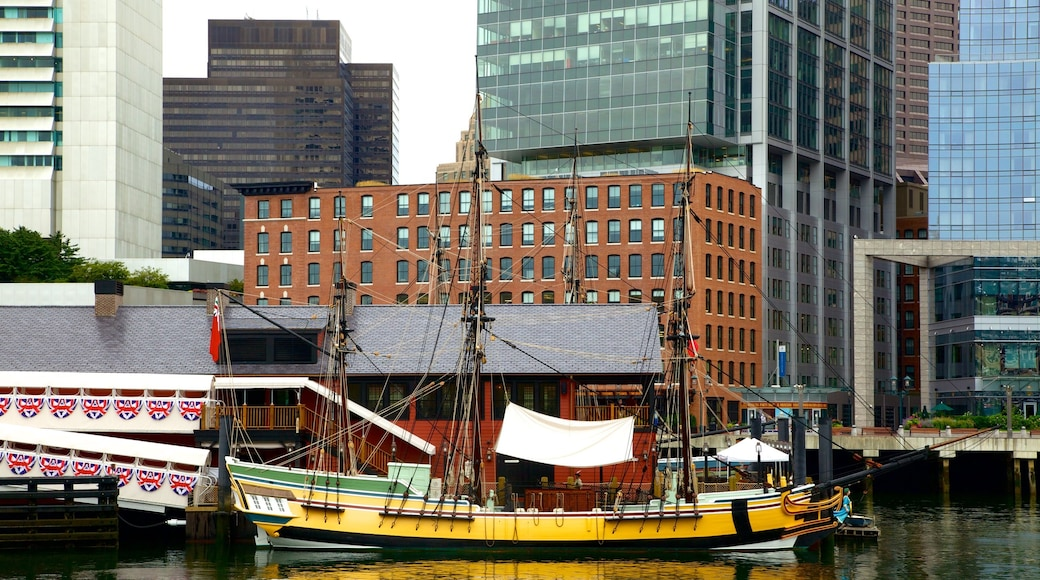 Boston Tea Party Ships & Museum featuring a bay or harbour and boating