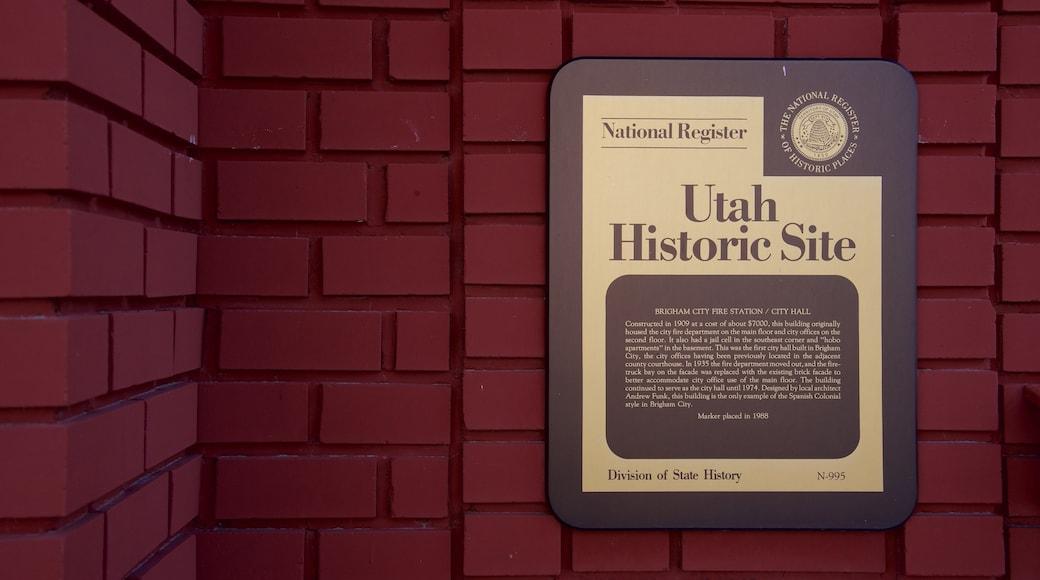 Brigham City featuring signage