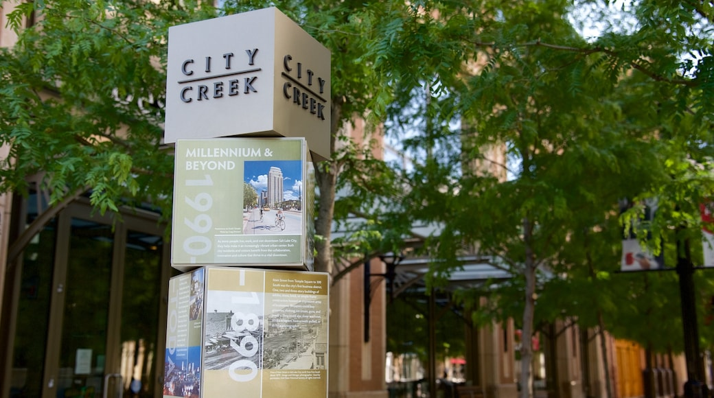 City Creek Center which includes signage