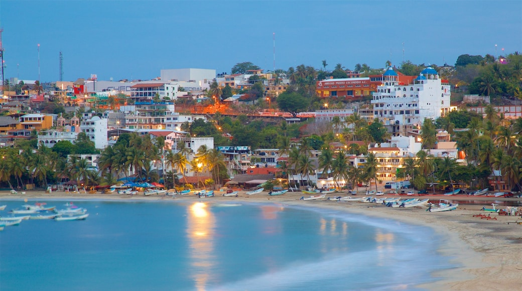 Puerto Escondido which includes a beach, landscape views and boating