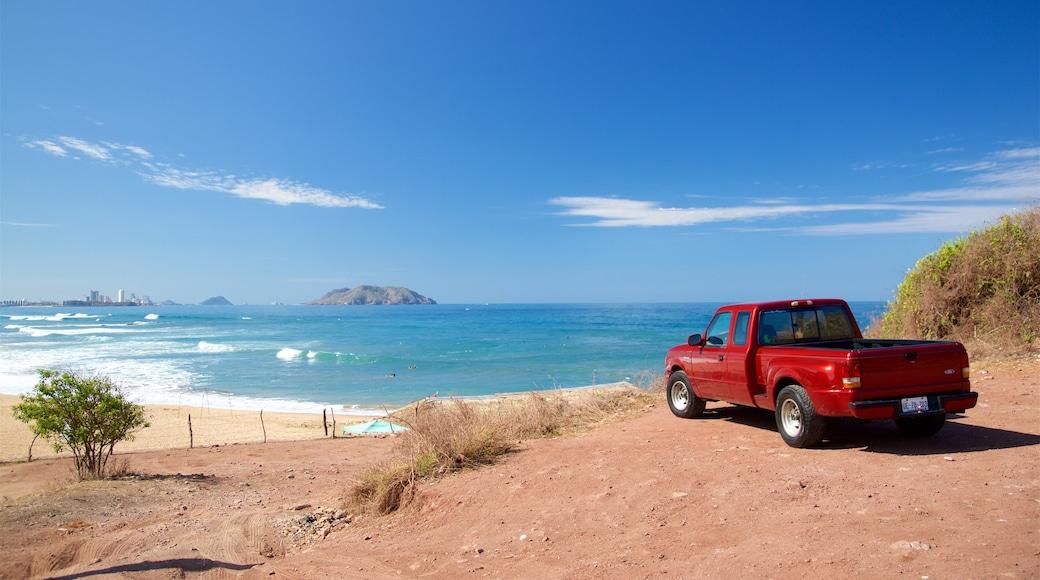 Mazatlán mostrando vistas de paisajes, una playa y vistas