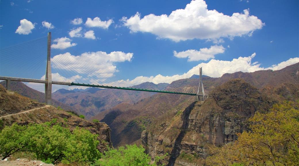 Mazatlán mostrando un puente y un barranco o cañón