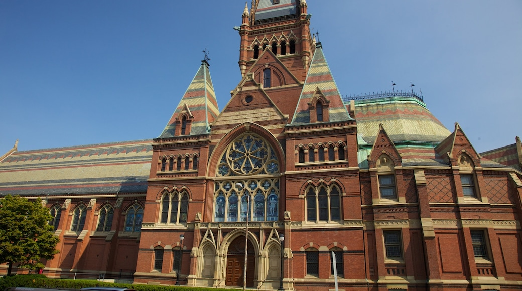 Harvard University showing a city and heritage architecture