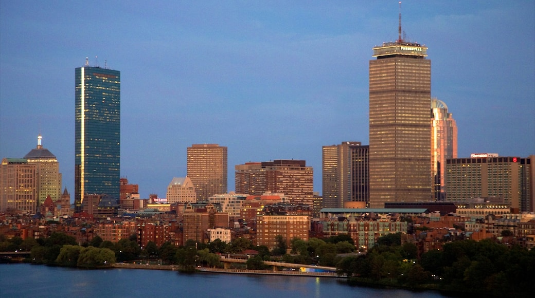 Prudential Tower featuring a city, a high-rise building and city views