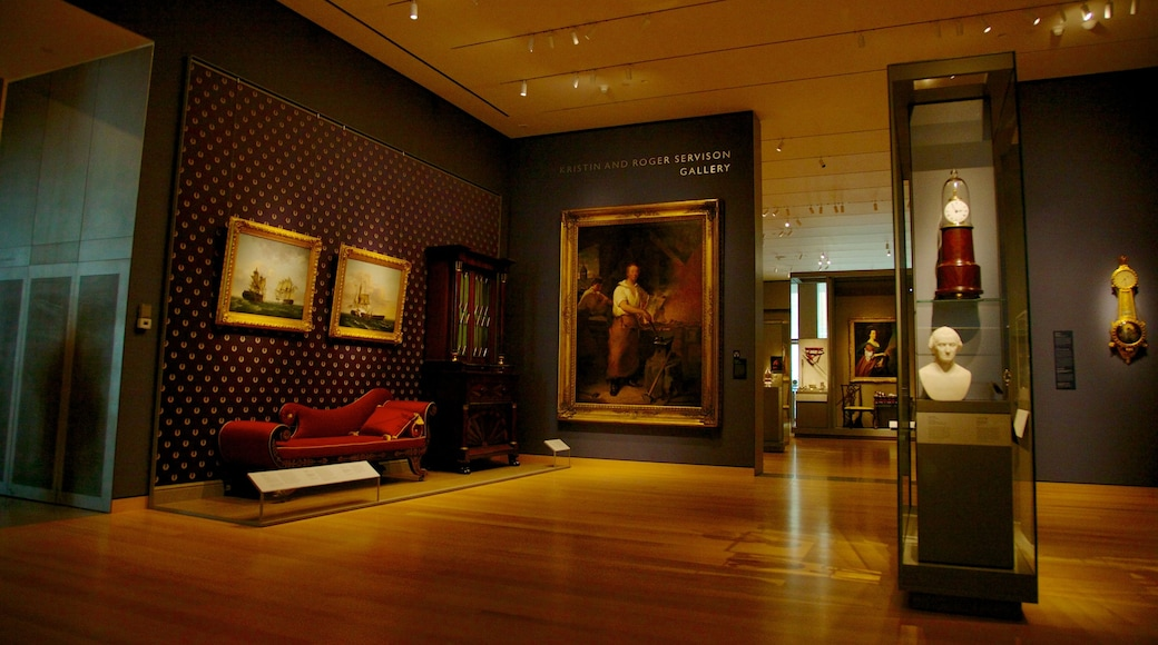 Boston Museum of Fine Arts featuring interior views