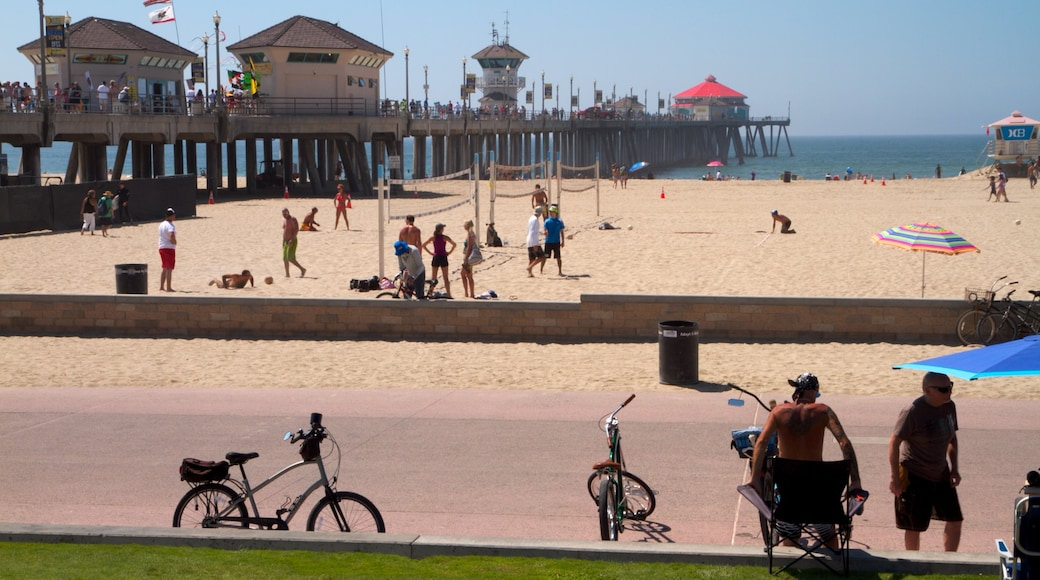Huntington Beach featuring a beach and general coastal views