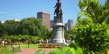 Boston Common que inclui um monumento, uma estátua ou escultura e uma cidade