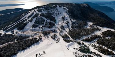 Cypress Mountain ofreciendo vista general a la costa, montañas y nieve