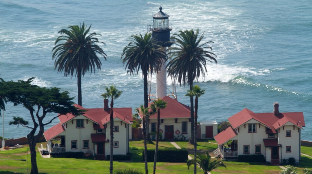 San Diego featuring a lighthouse, general coastal views and heritage architecture
