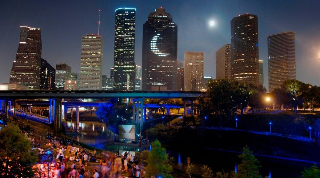 Houston showing a city, a bridge and cbd