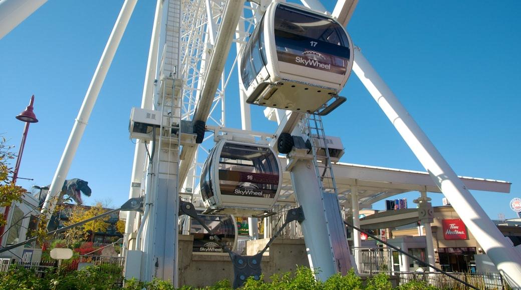 Niagara SkyWheel featuring a gondola and modern architecture
