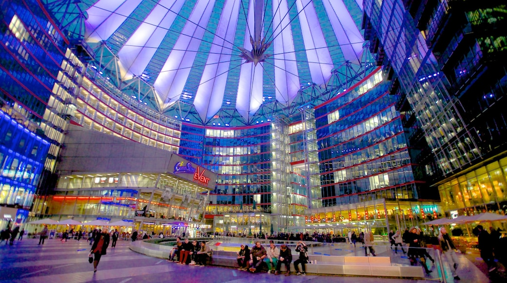 Potsdamer Platz which includes a city, modern architecture and a square or plaza