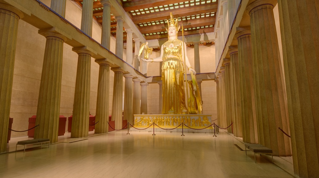 Parthenon featuring a monument, a statue or sculpture and interior views