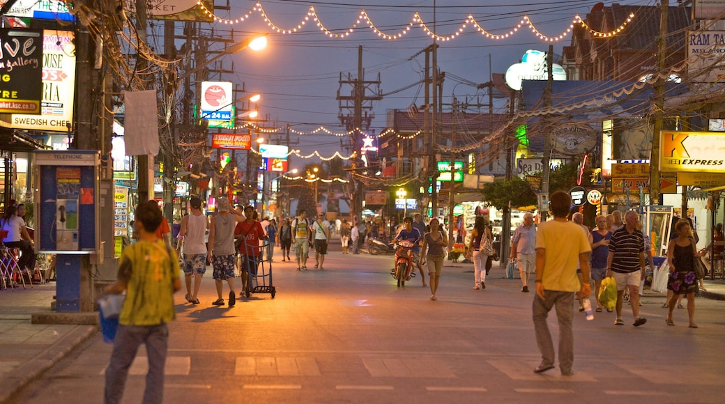 Patong featuring a city, nightlife and night scenes