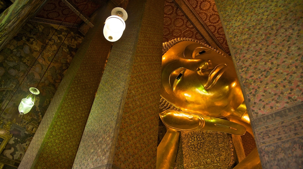 Wat Pho showing interior views and religious elements