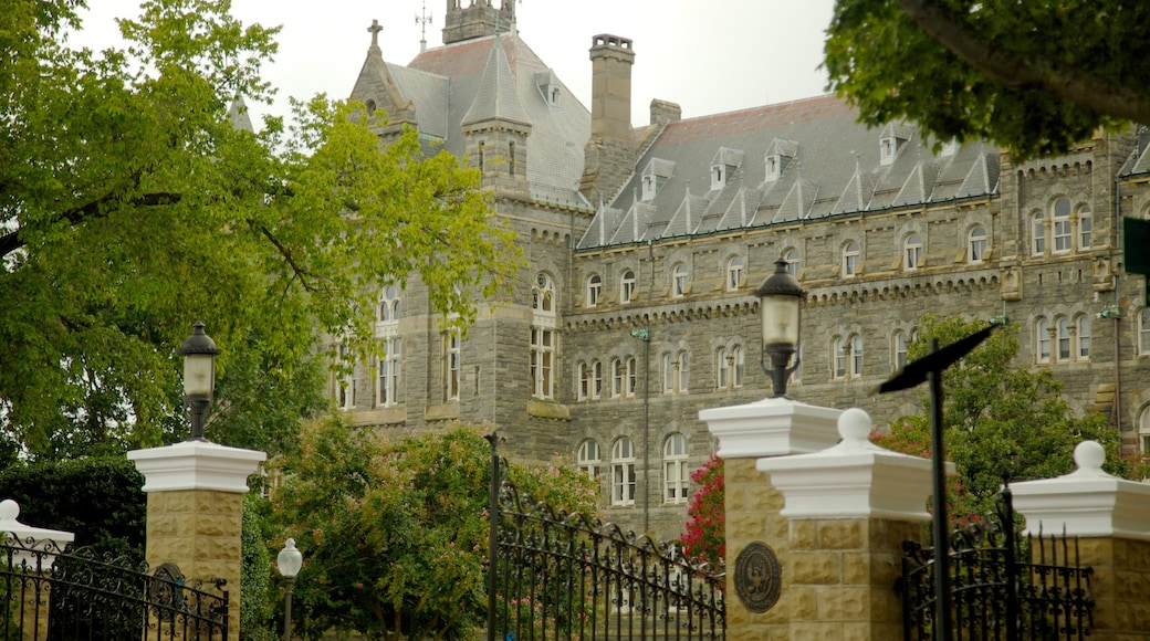 Georgetown ofreciendo una ciudad, arquitectura patrimonial y un castillo