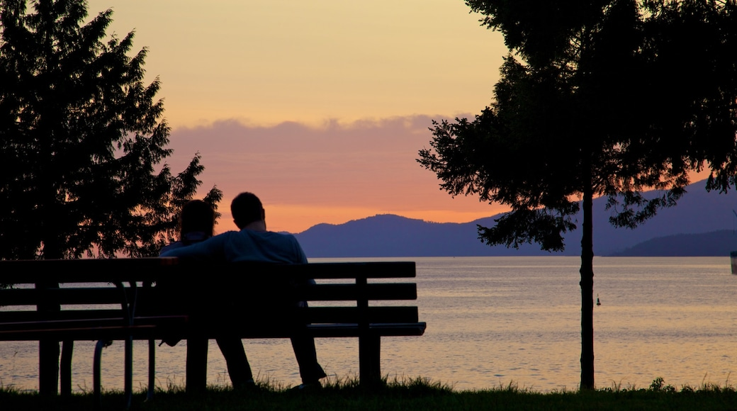 Stanley Park featuring a park, landscape views and a sunset